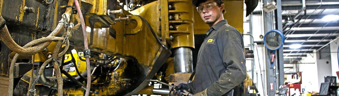 Riggs Cat team member welding