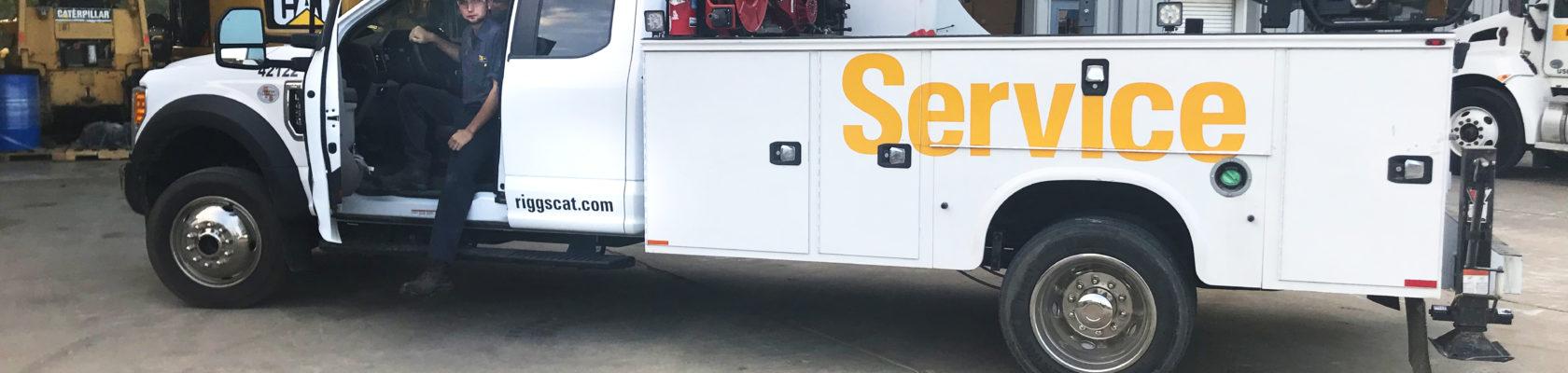 Tech in service truck